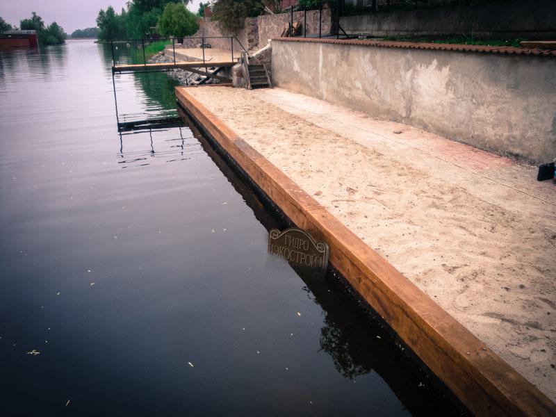 Укрепление берега компанией ГидроЭкоСтрой.