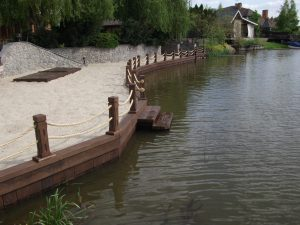 Укрепление берега от компании Гидро Эко Строй