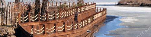 Строительство с нуля набережной на берегу реки