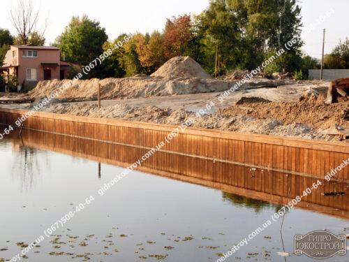 Пример построенной набережной в Киевской области